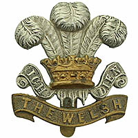 Welsh Regiment cap badge