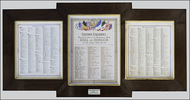 Celynen Collieries Roll of Honour