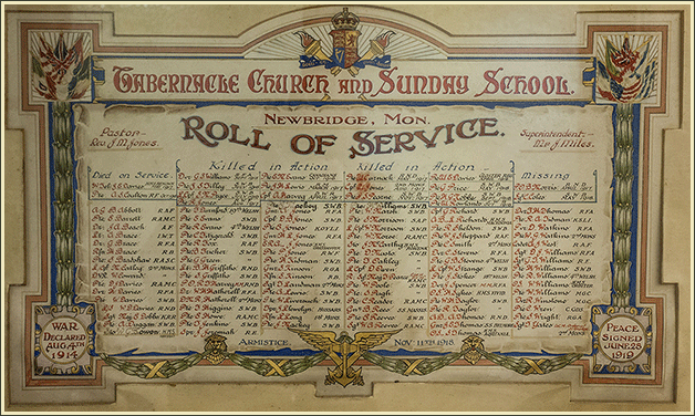 Tabernacle Church Roll of Honour